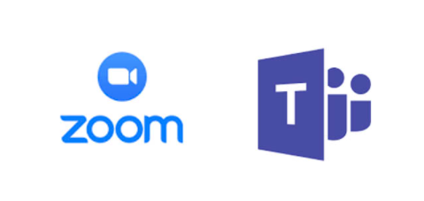 Zoom and MS Teams logos